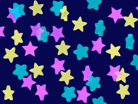 Translucent glittering star pattern