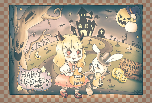 Halloween postcard / retro