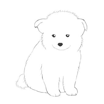 Puppy illustration (no background)