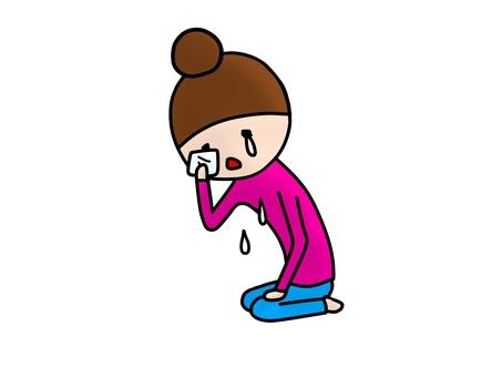 Seiza tears handkerchief