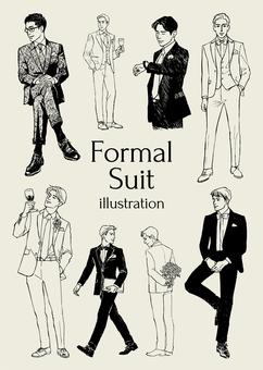 Formal suit illustration