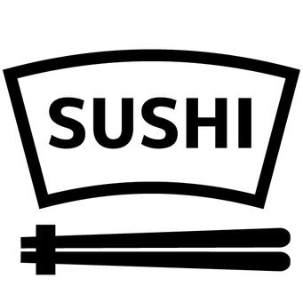 Sushi menu icon character sushi
