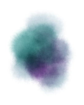 Abstract background (with watercolor and scratches) blue green / purple