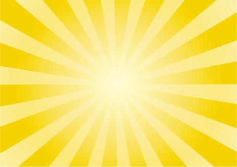 放射 黄色