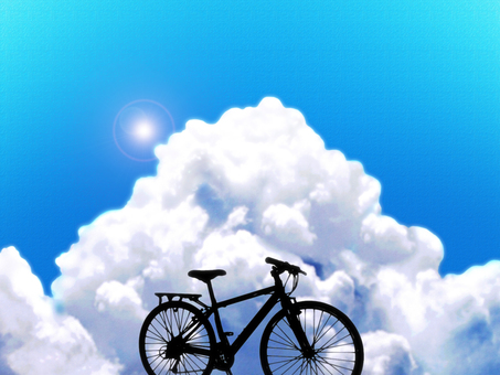 Tunnel cloud and bicycle