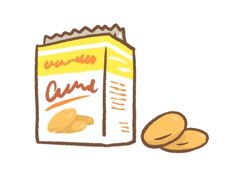 クッキーの箱と中身