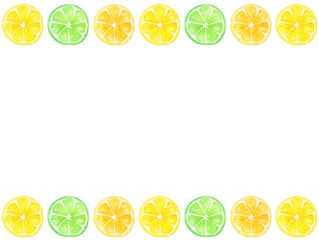 【Transparent】 Watercolor hand-drawn fruit line