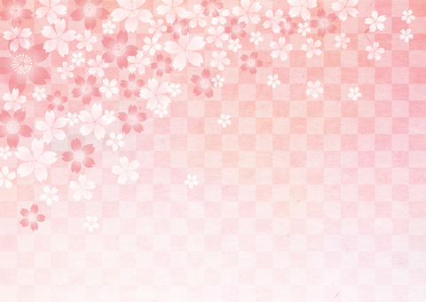 New Year _ Washi _ lattice_ cherry background