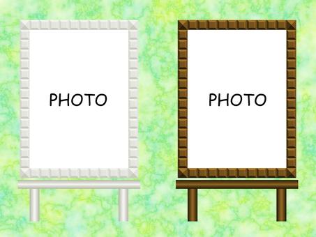 Easelboard photo frame illustration