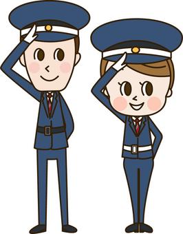 Salute gentleman security guard (security 1)
