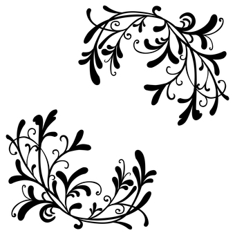 Art Nouveau Decoration 15 (Black)