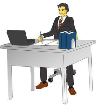 During desk work