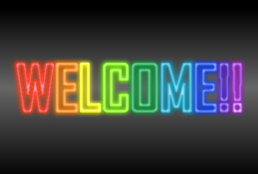 Welcome neon