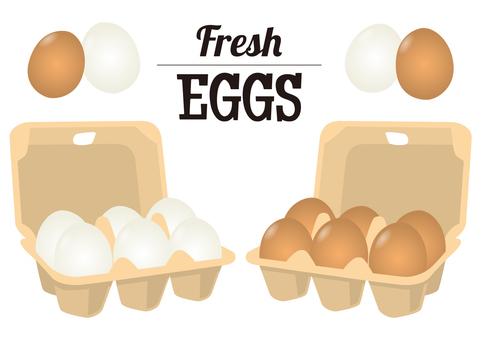 新鮮的雞蛋