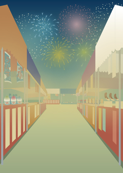 Festival background illustration