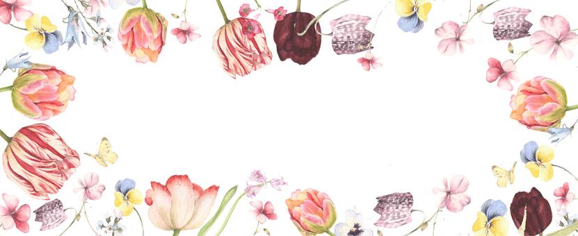花,花和蝴蝶花框架框架