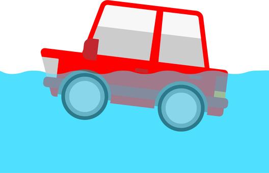 바다에 빠진 자동차