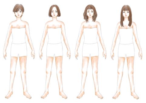 Fashion illustration brown hair