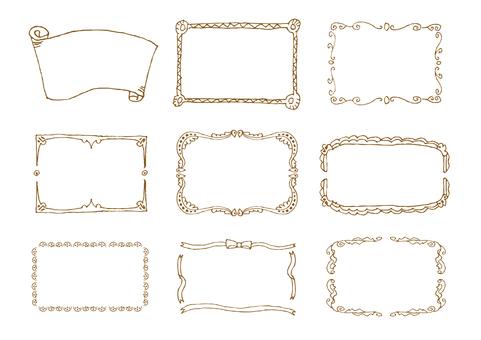 Handwritten material 006 frame set