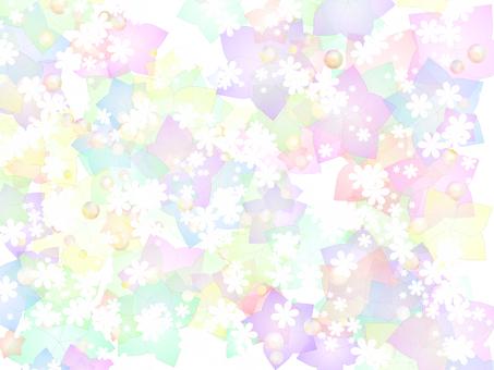 꿈 귀여운 꽃과 별