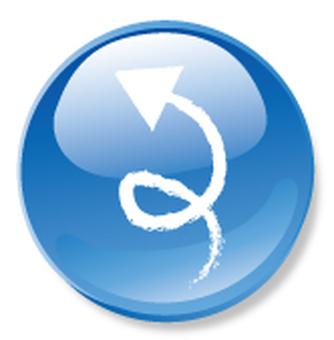 Hand drawn arrow icon - blue