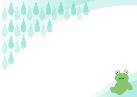 개구리 프레임 비오는 날