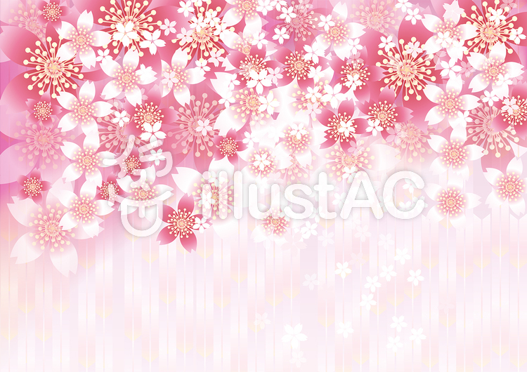 さくらの花&ピンク矢羽8のイラスト
