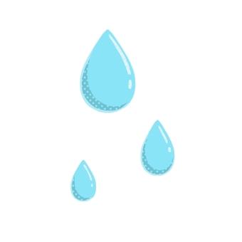 Water drops with polka dots