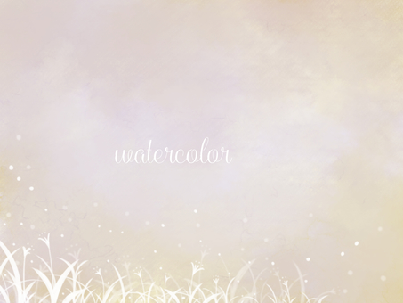 Watercolor background material 01 / beige