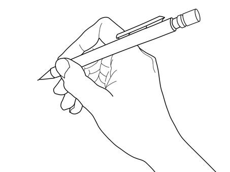 펜을 든 손 02