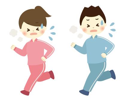 달리기 남녀 -2