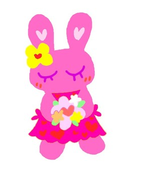 Bouquet Rabbit (Pink)