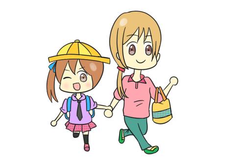 Illustration of leaving school