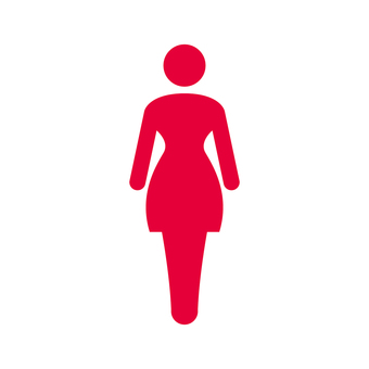 Female toilet mark (A)