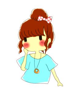 A girl with dumpling hair