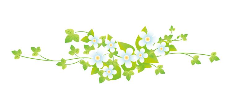 White flower decoration