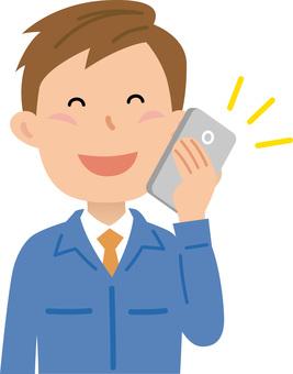 70120. Work clothes, smartphone 1