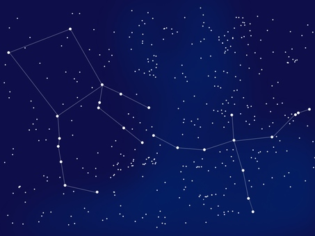Constellation of Pegasus and Deneb