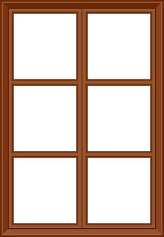 Western-style wooden crate window frame