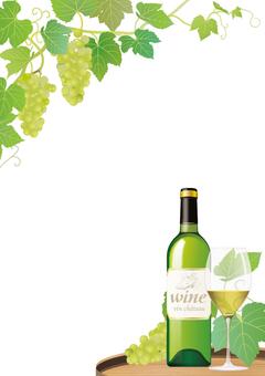 Wine and grape plate _ white