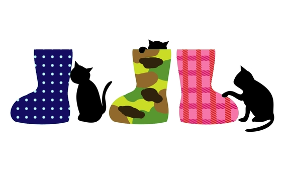 Boots and cats colorful