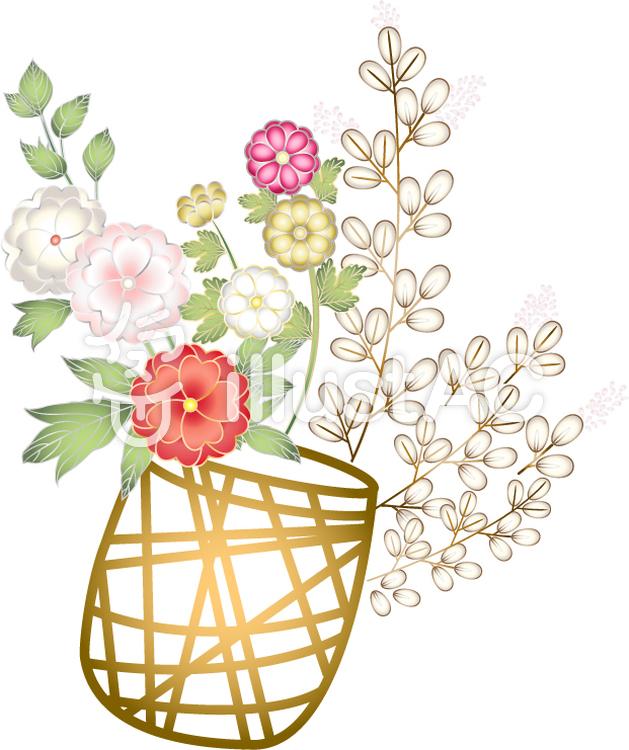 八重桜の花かごイラスト No 152354無料イラストならイラストac