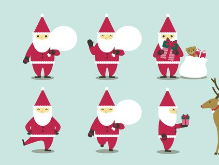 Santa posing 6 species