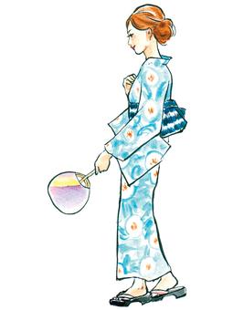 Yukata woman 1