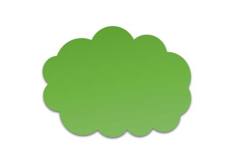 구름의 말풍선 (녹색)