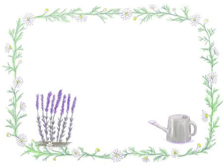 Herb decorative frame Lavender · Jouro