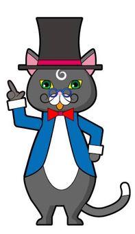 Gentleman's cat 2 pointing fingers