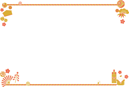 New Year motif frame