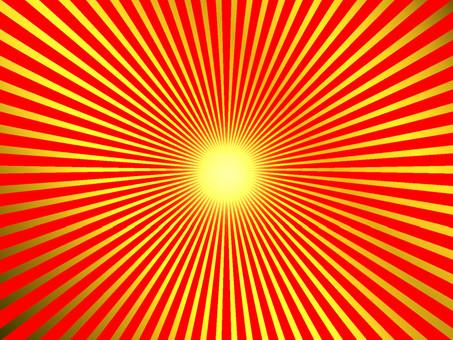 紅金光簡單的中線