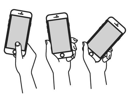 Hand collection with smartphone